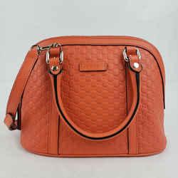 Gucci Orange Micro Guccissima Leather Mini Crossbody Dome Bag 449654 7527