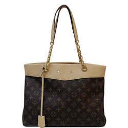 Louis Vuitton Pallas Chain Shopper Monogram Canvas Shoulder Bag Dune