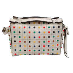 Tod's Gommino Mini Ecru Leather Shoulder Bag
