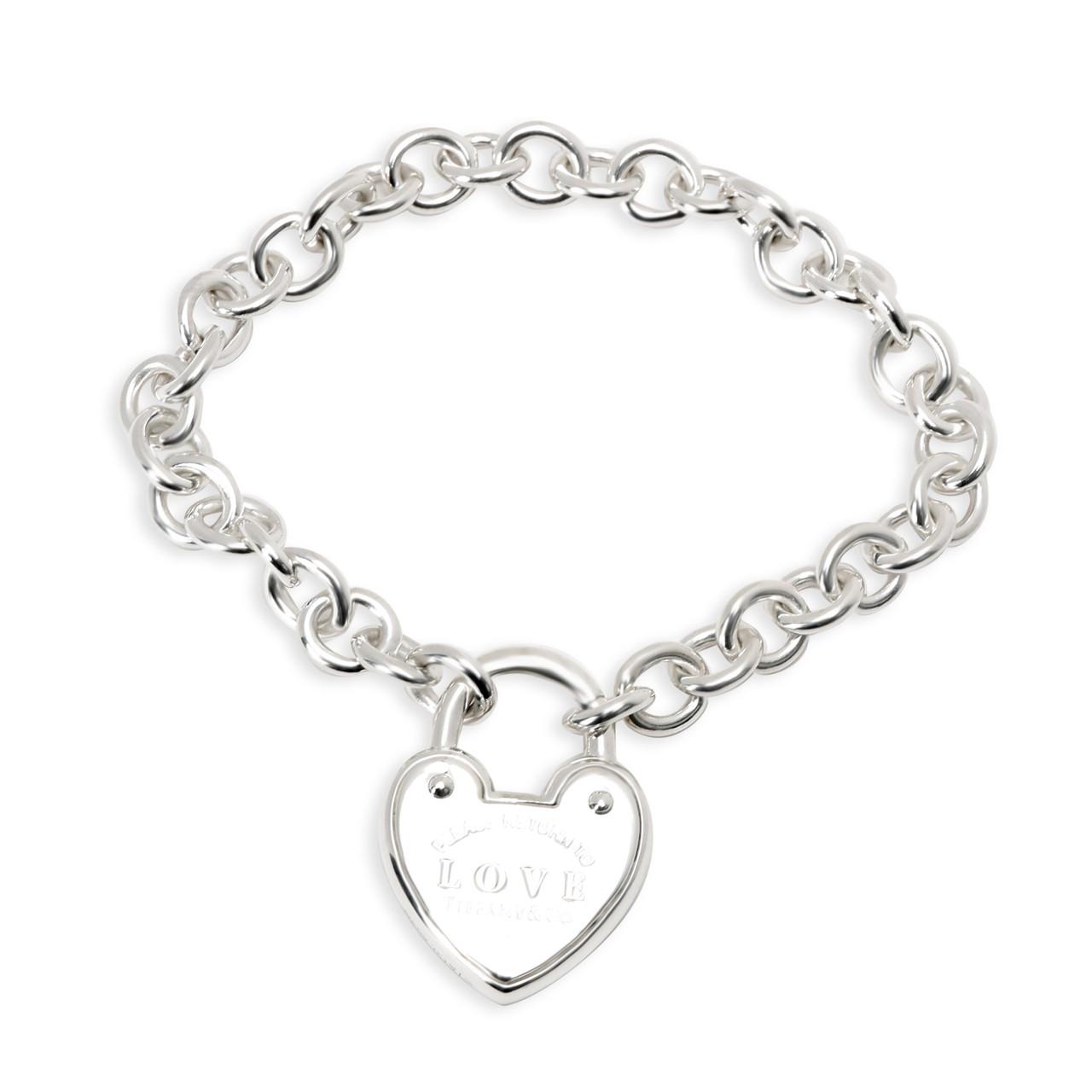Tiffany Love Lock Bracelet In Sterling