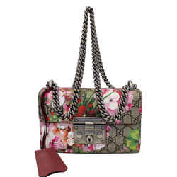 Gucci Small Padlock Gg Supreme Monogram Blooms Print Shoulder Bag