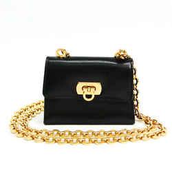 Salvatore Ferragamo Gancini 214771 Women's Leather Pochette,Shoulder Ba BF516162