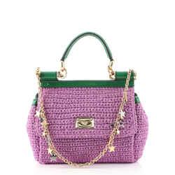 Miss Sicily Bag Woven Raffia Small
