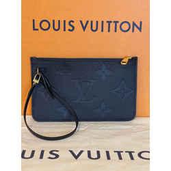 Louis Vuitton Neverfull Mm Empreinte Leather Pochette Clutch Wristlet Pouch Monogram Limited Edition 10L x 6H