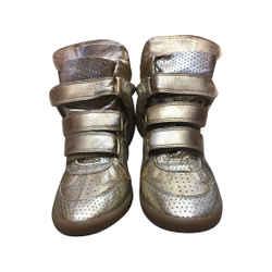 Isabel Marant Gold Sneaker Wedges Size 7/7.5