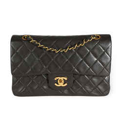 Chanel Vintage Black Lambskin Quilted Small Classic Double Flap Bag