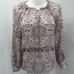 L'Agence Ivory Floral Blouse Small