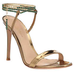 Gianvito Rossi Gold Serena 85 Sandals