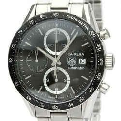 Polished TAG HEUER Carrera Chronograph Steel Automatic Watch CV2010 BF534053