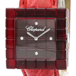 CHOPARD Ice Cube Be Mad Plastic Leather Quartz  Ladies Watch 12/7780 BF520296
