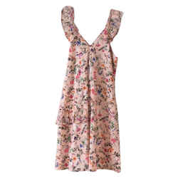 MSGM New Pink Floral Short Casual Dress Size: 0 (XS) Length: Mid-Length