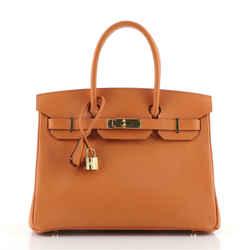 Birkin Handbag Orange H Epsom with Gold Hardware 30