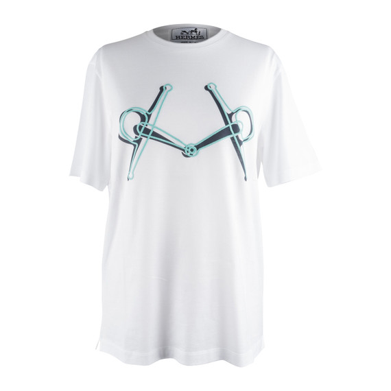 Hermes Men's T-Shirt Blanc Mors M nwt