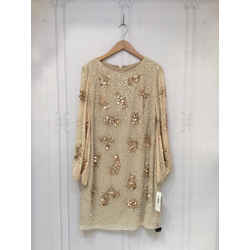 Badgley Mischka Size 8 Champagne Dress