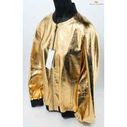 Gucci Dapper Dan Metallic Gold Leather Bomber Jacket