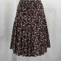 Elie Tahari Brown Printed Skirt 4