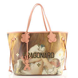 Neverfull NM Tote Limited Edition Jeff Koons Fragonard Print Canvas MM