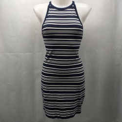 Theory Navy Stripe Dress Medium