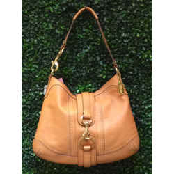 Coach Size Large Natural Hobo