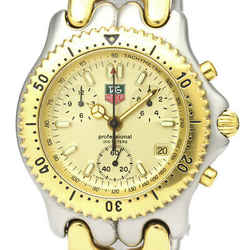 TAG HEUER Sel Chronograph Gold Plated Steel Mens Watch S35.406 BF525884