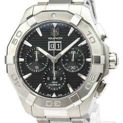 Polished TAG HEUER Aquaracer Chronograph Big Date Steel Watch CAY211Z BF521568