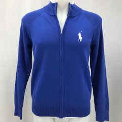 Polo Ralph Lauren Blue Zip Front Jacket Large