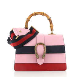 Dionysus Bamboo Top Handle Bag Colorblock Leather Medium