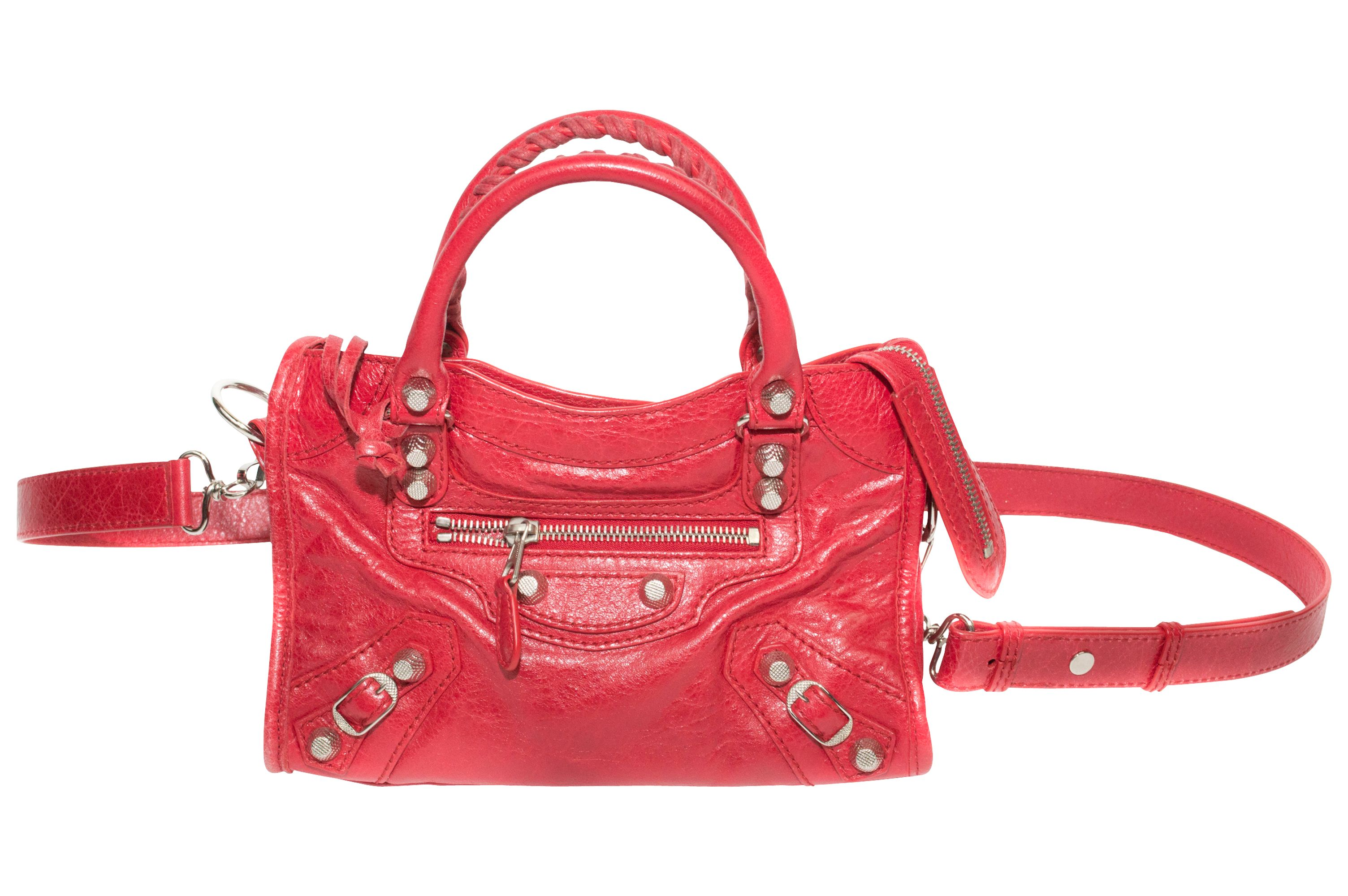 Balenciaga City Red Shoulder Mini Bag