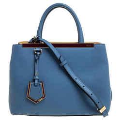 Fendi Blue Leather Mini 2Jours Tote