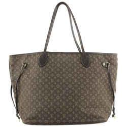 Louis Vuitton Monogram Ebene Mini Lin Idylle Neverfull MM Tote Bag 592lvs615