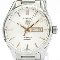 Polished Tag Heuer Carrera Calibre 5 Day Date Automatic Watch War201d Bf510503
