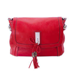 Gucci Bella Red Leather Shoulder Bag