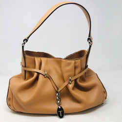 Tods Tan Leather Shoulder Bag Driving Purse - 1008-83-62719