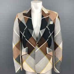 Vivienne Westwood Size 40 Multi-color Plaid Wool Peak Lapel Sport Coat