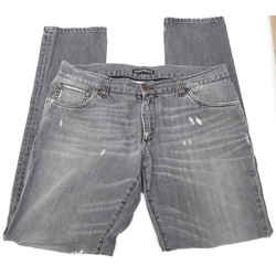 Dolce & Gabbana Men's Grey Jean Denim Distressed Medium Dark Boot Cut Sz 50