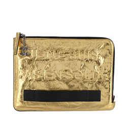 Gold Chanel Je Ne Suis Pas En Solde Pouch