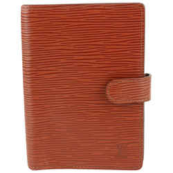 Louis Vuitton Brown Epi Leather Small Ring Agenda PM Diary Cover Notebook 97lv2