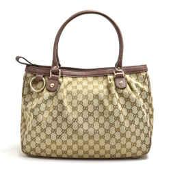 Gucci Surkey Gg Canvas & Light Purple Leather Top Handle Tote Bag Ga270