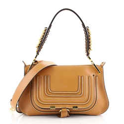 Marcie Saddle Shoulder Bag Leather Small