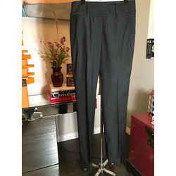 Dolce & Gabbana Size 42 Black Wool Pin Stripe Pants 2400-299-11020