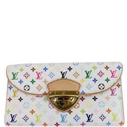 LOUIS VUITTON Eugenie Multicolor Monogram Wallet White