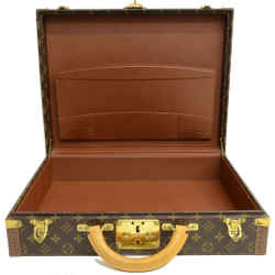 Authentic Louis Vuitton President Briefcase 1st Edition Vintage Monogram Signature Logo Travel Case