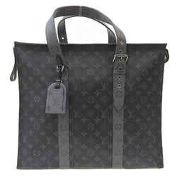 Auth Louis Vuitton Monogram Eclipse Cover Zip Gm Tote Bag M45379 Leather