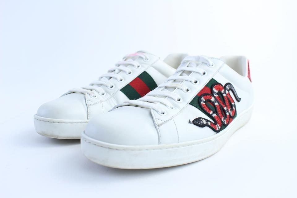 Gucci Ace Snake Sneaker White Men's US