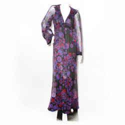 Chanel Shanghai Silk Floral Dress