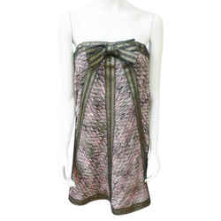 Missoni Multi-Color New Rugiada Strapless Knitted Mini With Detachable Bow Size 10 Dress