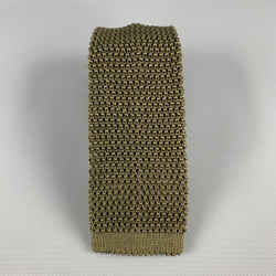 Charvet Knitted Textured Olive Silk Tie