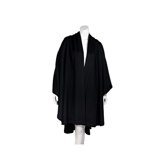 Black Givenchy Wool Cape