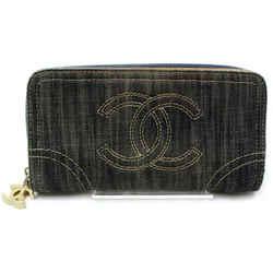 Chanel | Denim CC Zip Around Wallet