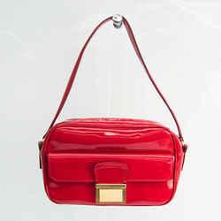 Miu Miu VERNICE RR1912 Women's Patent Leather Shoulder Bag Red Color BF528053